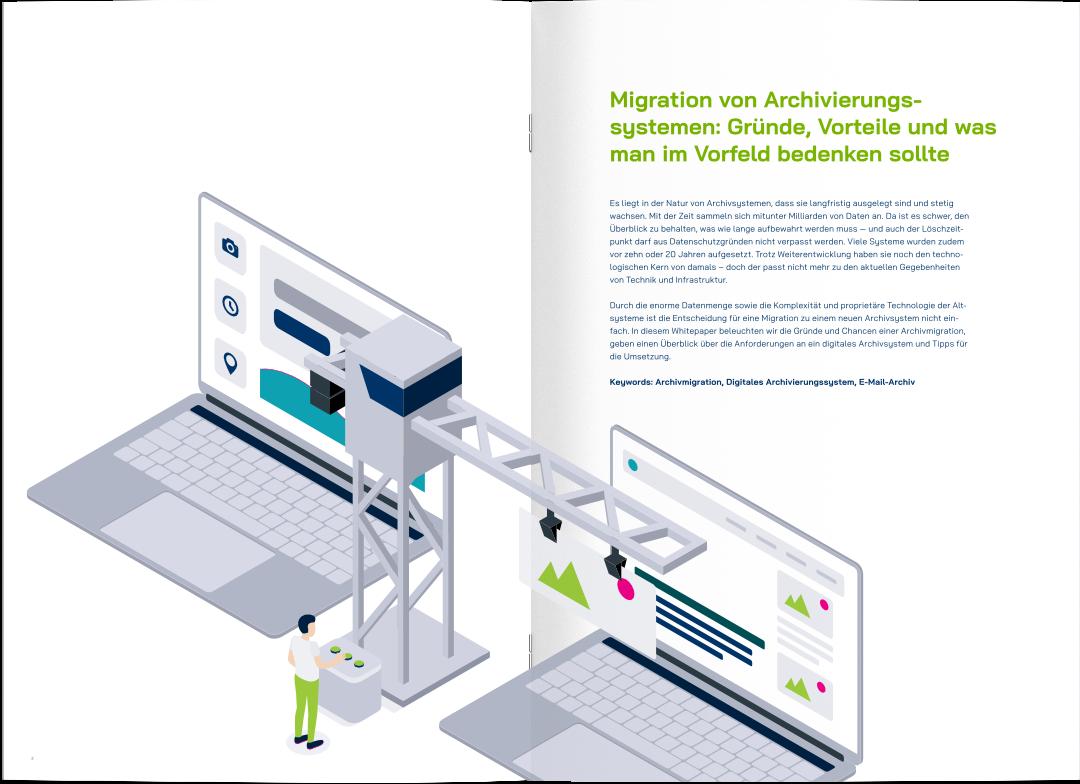 Vorschau yuuvis® Whitepaper Archivmigration als Magazin