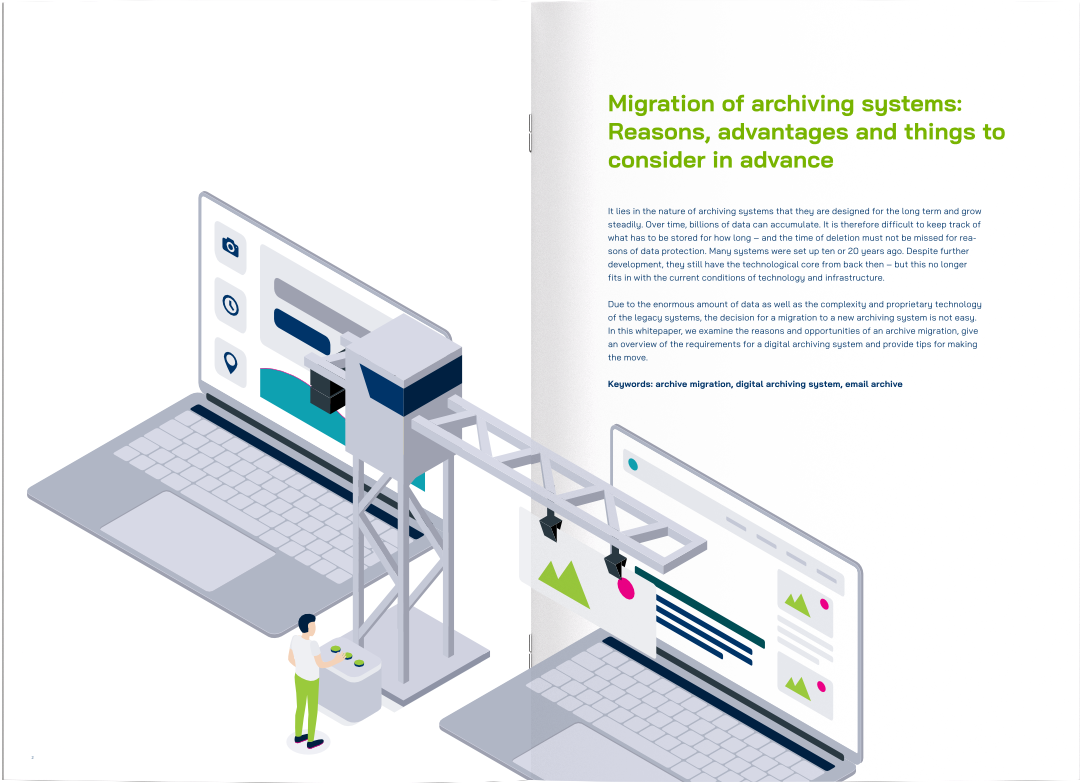 Preview yuuvis® Momentum Whitepaper Archive Migration as magazine