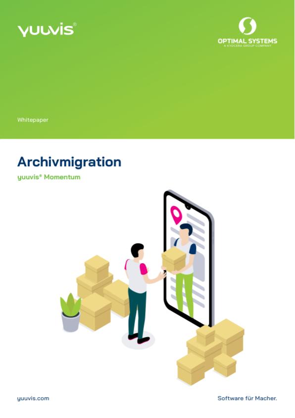 Titelblatt yuuvis® Momentum Whitepaper Archivmigration